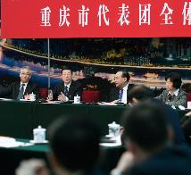 李克强张德江俞正声王岐山张高丽分别参加全国人大会议一些代表团审议