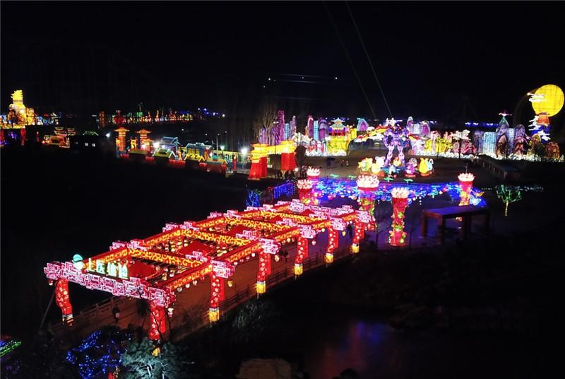 山东淄博:花灯璀璨迎新年