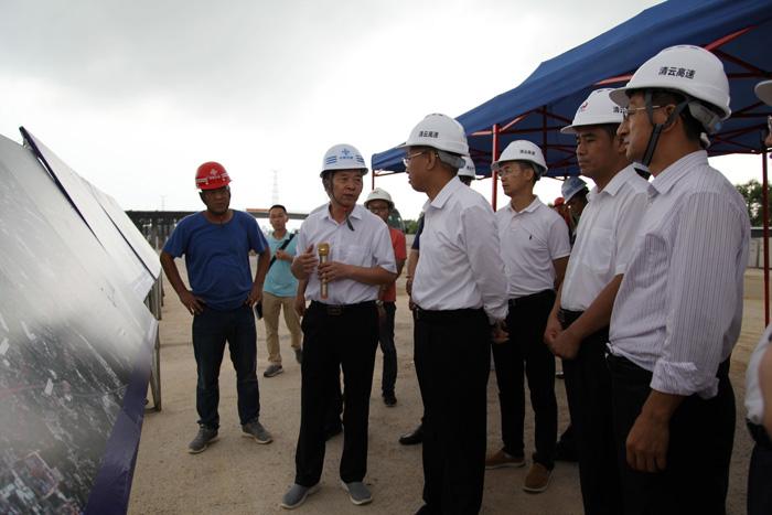 副省长陈良贤到清远市调研高速公路及交通基础设施建设