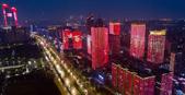 红色灯光秀 点亮金陵城