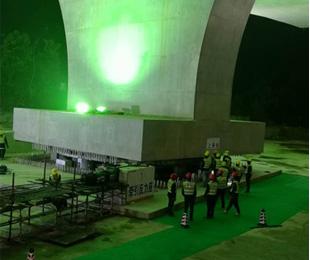 惠清高速跨公铁双线转体桥成功实施转体 刷新国内纪录